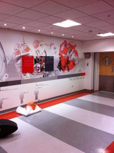 Corridor Artwork Wallpaper with Acrylic mounted displays