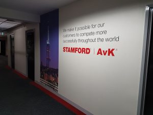 Stamford AvK Branded product application feature wall