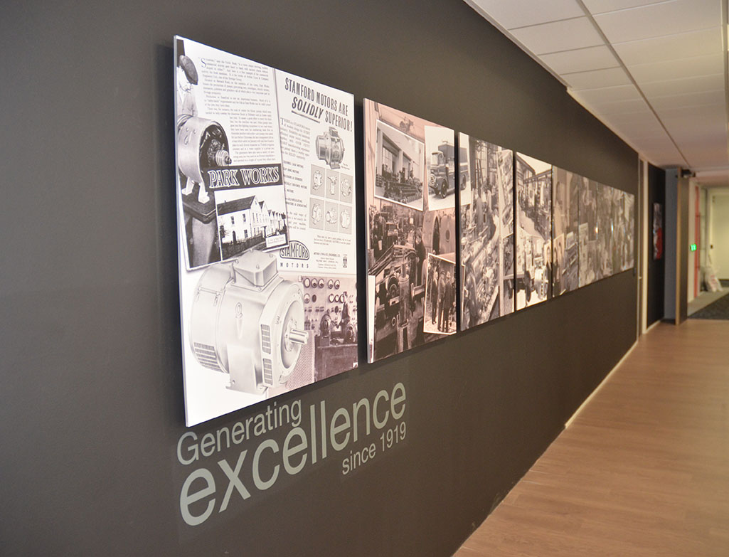 Acylic Printed Display Panels Mounted For Corporate And History Walls