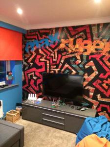 Max Ruben wall 225x300 Childerns Games Room Graffiti Wall    Image of Max Ruben wall 225x300