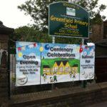 greenfield school banner 150x150 PVC Vinyl Banners    Image of greenfield school banner 150x150