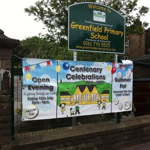 greenfield school banner 500x500 Schools and colleges    Image of greenfield school banner 500x500