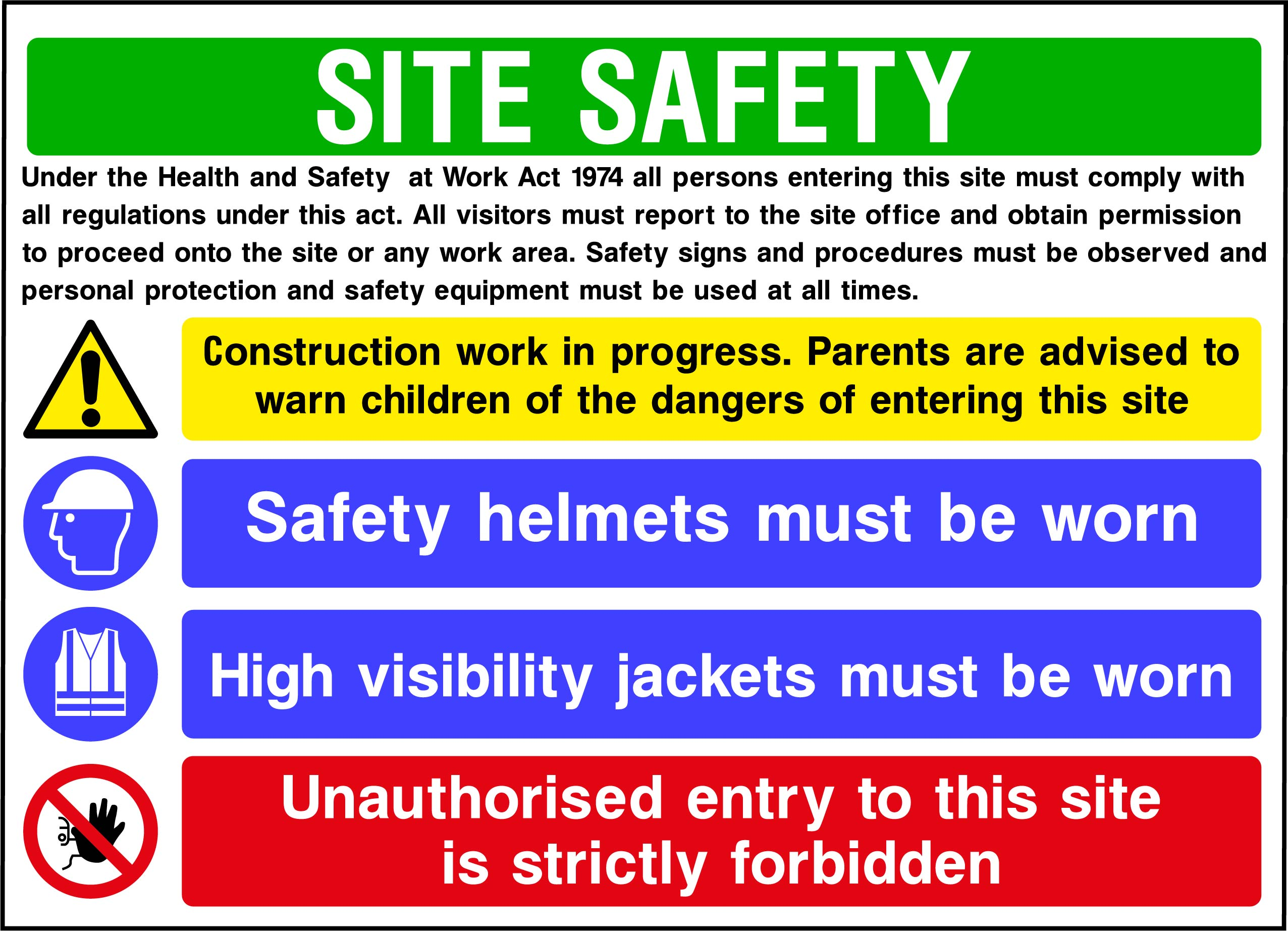 CONS0013 Site Safety Boards    Image of CONS0013