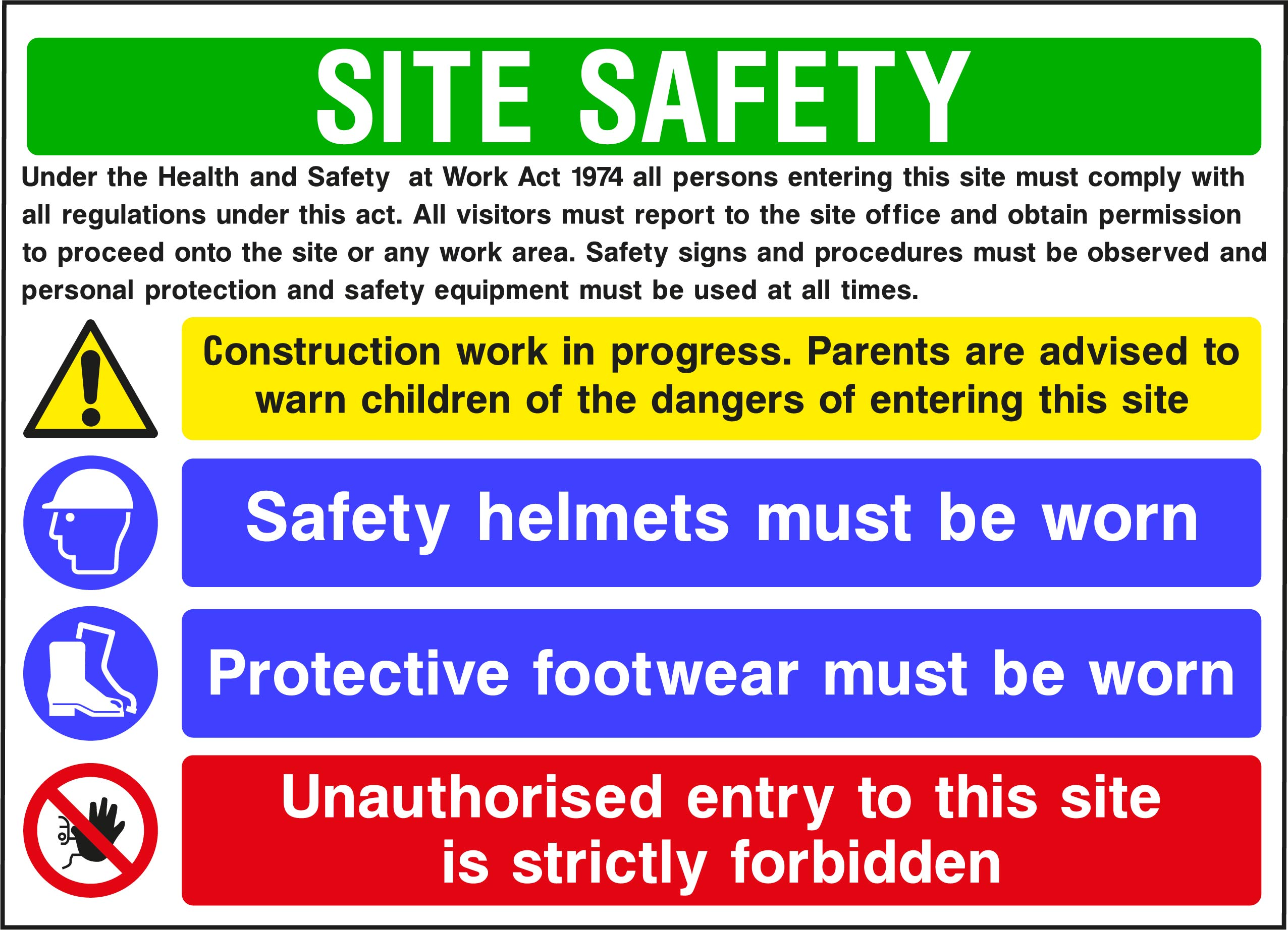 CONS0014 Site Safety Boards    Image of CONS0014
