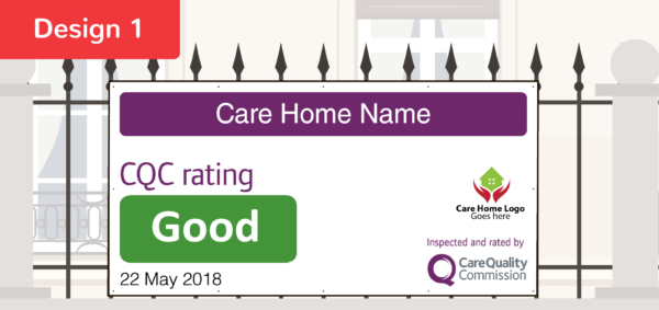 CQC D1 GOOD Care Quality Commission Banner  CQC outstanding and good banners    Image of CQC D1 GOOD
