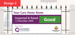 CQC D2 GOOD Care Quality Commission Banner  CQC outstanding and good banners    Image of CQC D2 GOOD