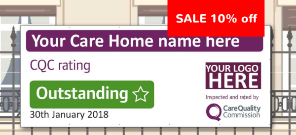 CQC vinylbanner sale3 Care Quality Commission Banner  <span>CQC outstanding and good banners</span>    Image of CQC vinylbanner sale3