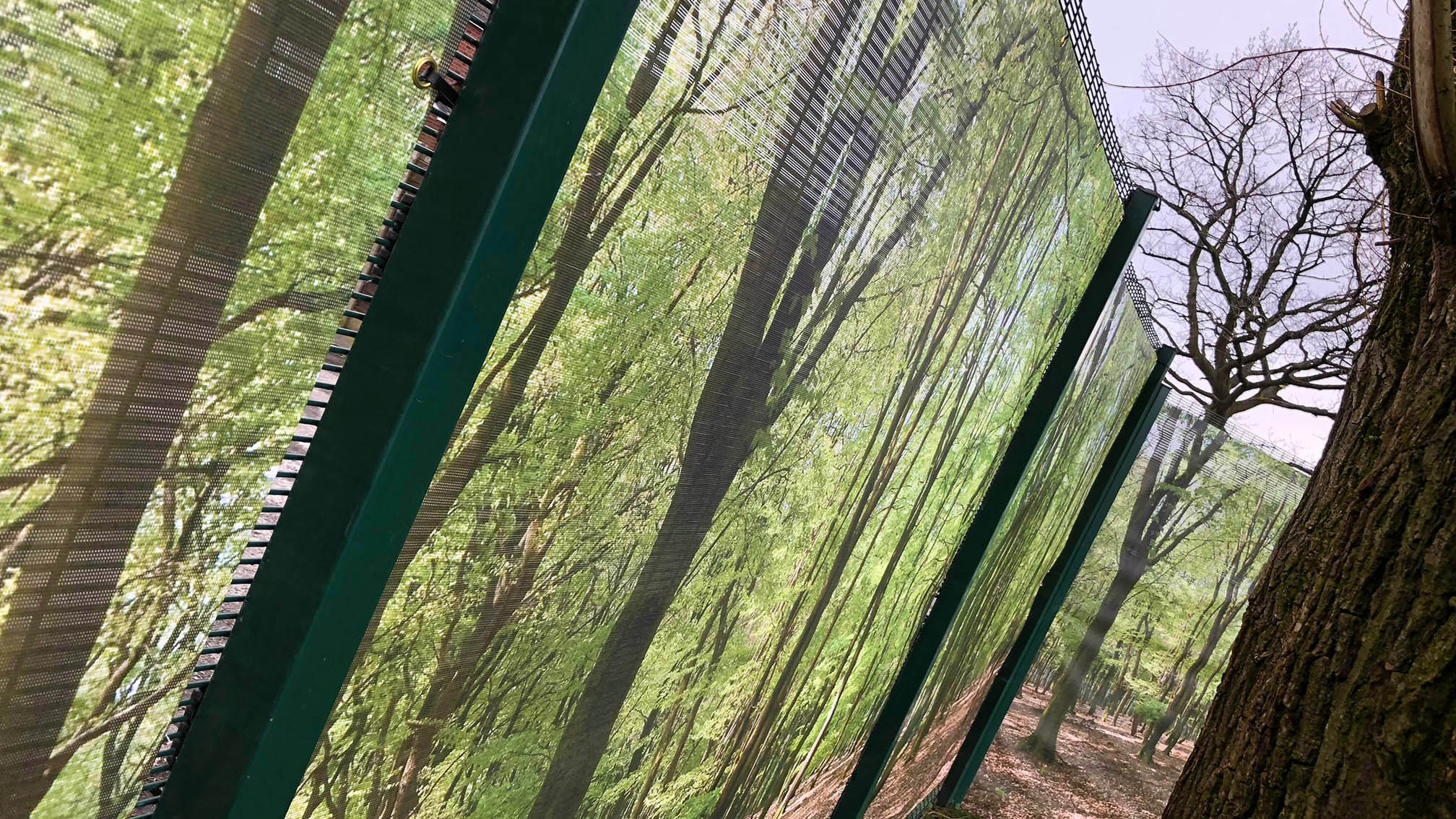 Printed Mesh Banners Mesh Fence Banners Building Wraps