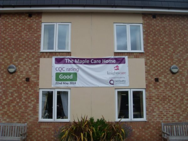 Maple Care Home CQC banner