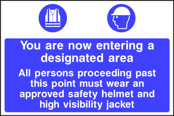 CONS0001 1 CONS0001   <span>designated area safety helmet and high vis jacket</span>    Image of CONS0001 1