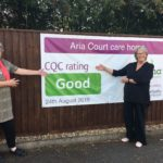 Lorna and Linda scaled 150x150 Care Quality Commission Banner  <span>CQC outstanding and good banners</span>    Image of Lorna and Linda scaled 150x150