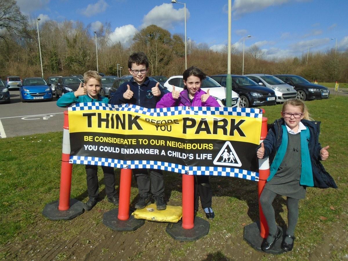 School Parking Banners for Mead School