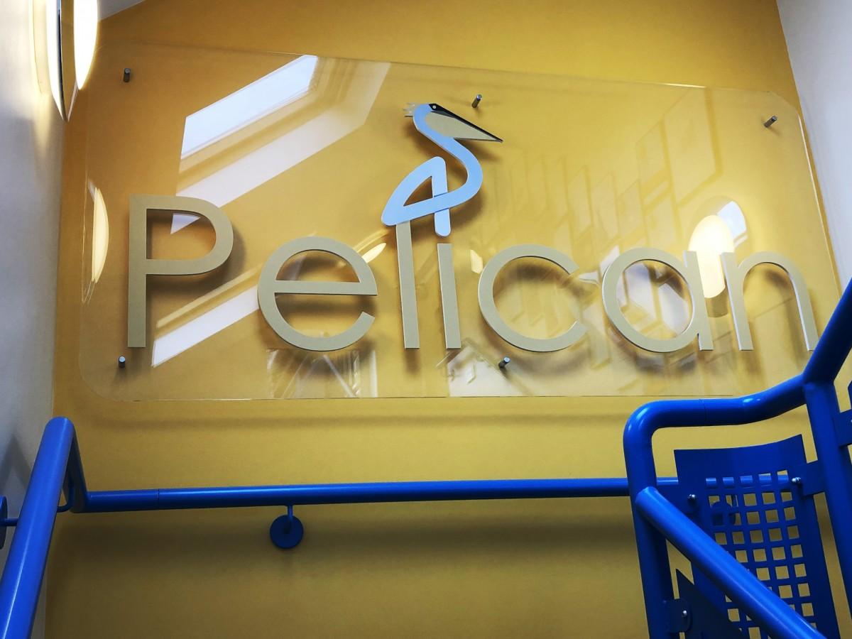 Acrylic Panel with Pelican Logo
