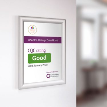 CQC ClipFrame Image 01 375x375 Care Quality Commission Banner  CQC outstanding and good banners    Image of CQC ClipFrame Image 01 375x375