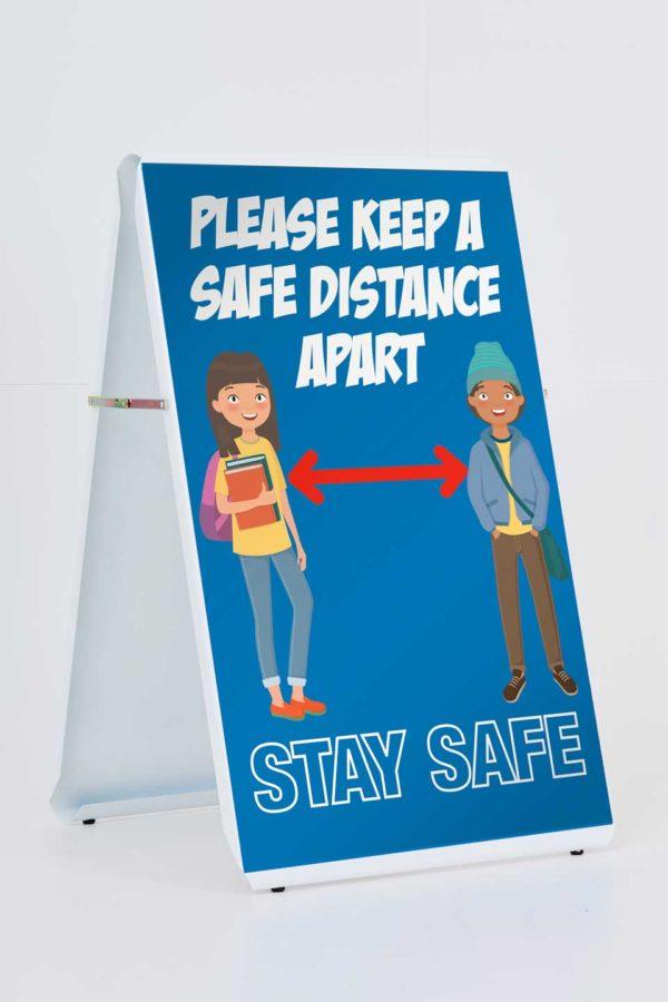 PleaseKeepSafeDistanceApartAboard Social Distancing A Board   <span>Social Distancing</span>    Image of PleaseKeepSafeDistanceApartAboard