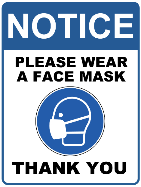 covid posters8 NOTICE<span>Wear a Face Mask</span>    Image of covid posters8