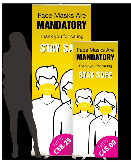 face mask big 1 Face Mask Roller Banner    Image of face mask big 1