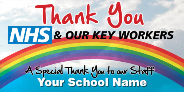 NHSThankYou 8x4 good Thank You NHS and Key Workers school vinyl banner    Image of NHSThankYou 8x4 good