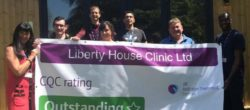 Luton Rehab Centre CQC ourstanding e1602749729664 250x110 Care Quality Commission Banner  CQC outstanding and good banners    Image of Luton Rehab Centre CQC ourstanding e1602749729664 250x110